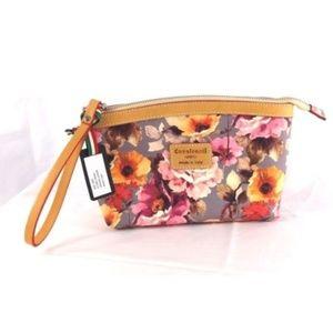 119905fd2b Cavalcanti Bags - CAVALCANTI Leather Floral Wristlet Clutch Bag